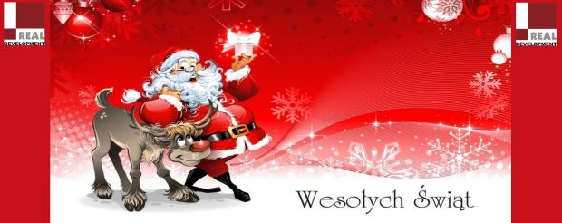 Wesołych Świąt życzy zespół Real Development Group