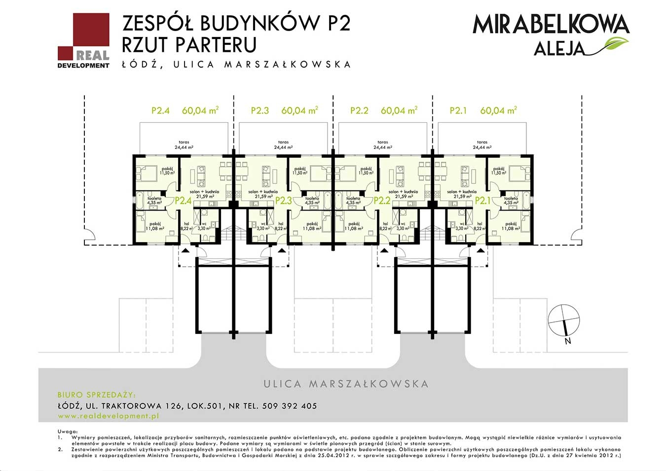 Mirabelkowa Aleja PP - Parter P2