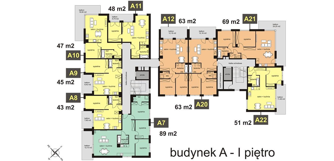 Awangarda Łagiewniki Park - Budynek A - Piętro 1