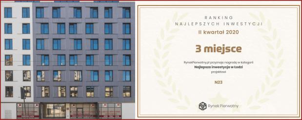 N23 przy Narutowicza- III miejsce w rankingu inwestycji II kwartału